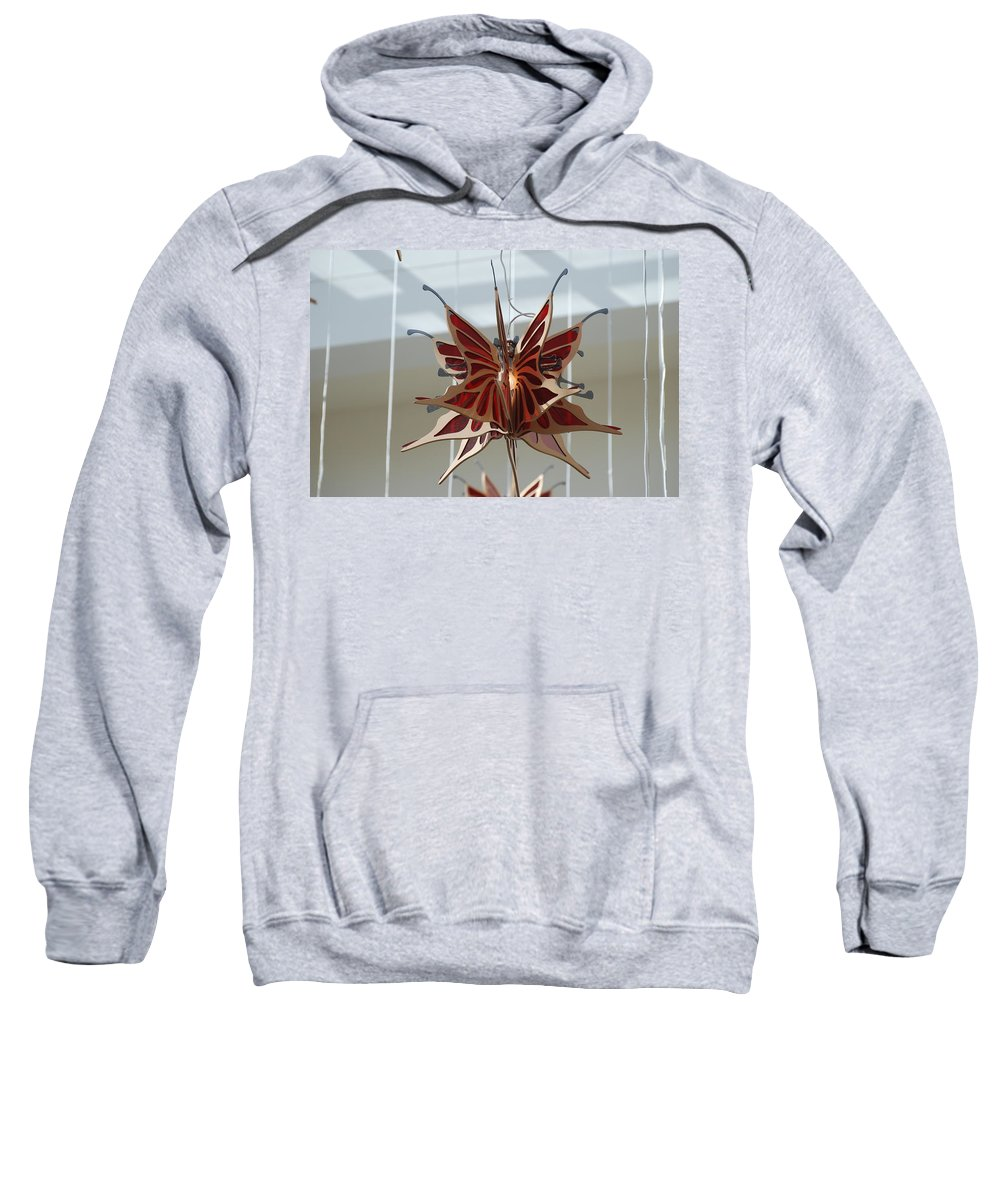 Architecture Sweatshirt featuring the photograph Hanging Butterfly by Rob Hans