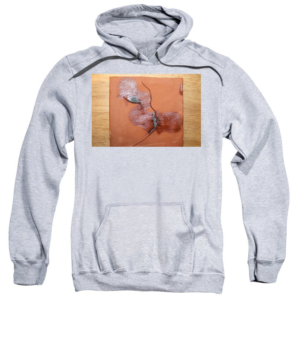 Jesus Sweatshirt featuring the ceramic art Loss - Tile by Gloria Ssali