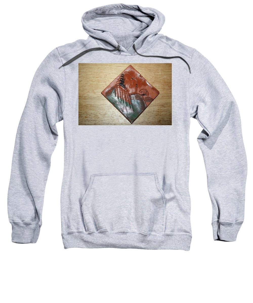 Jesus Sweatshirt featuring the ceramic art Mama - Tile by Gloria Ssali
