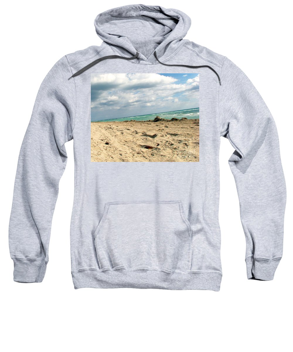 Miami Sweatshirt featuring the photograph Miami Beach by Amanda Barcon
