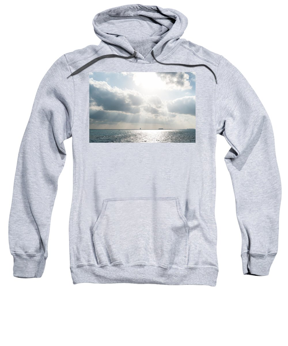 Mexico Quintana Roo Sweatshirt featuring the digital art On The Way To Isla Muheres by Carol Ailles