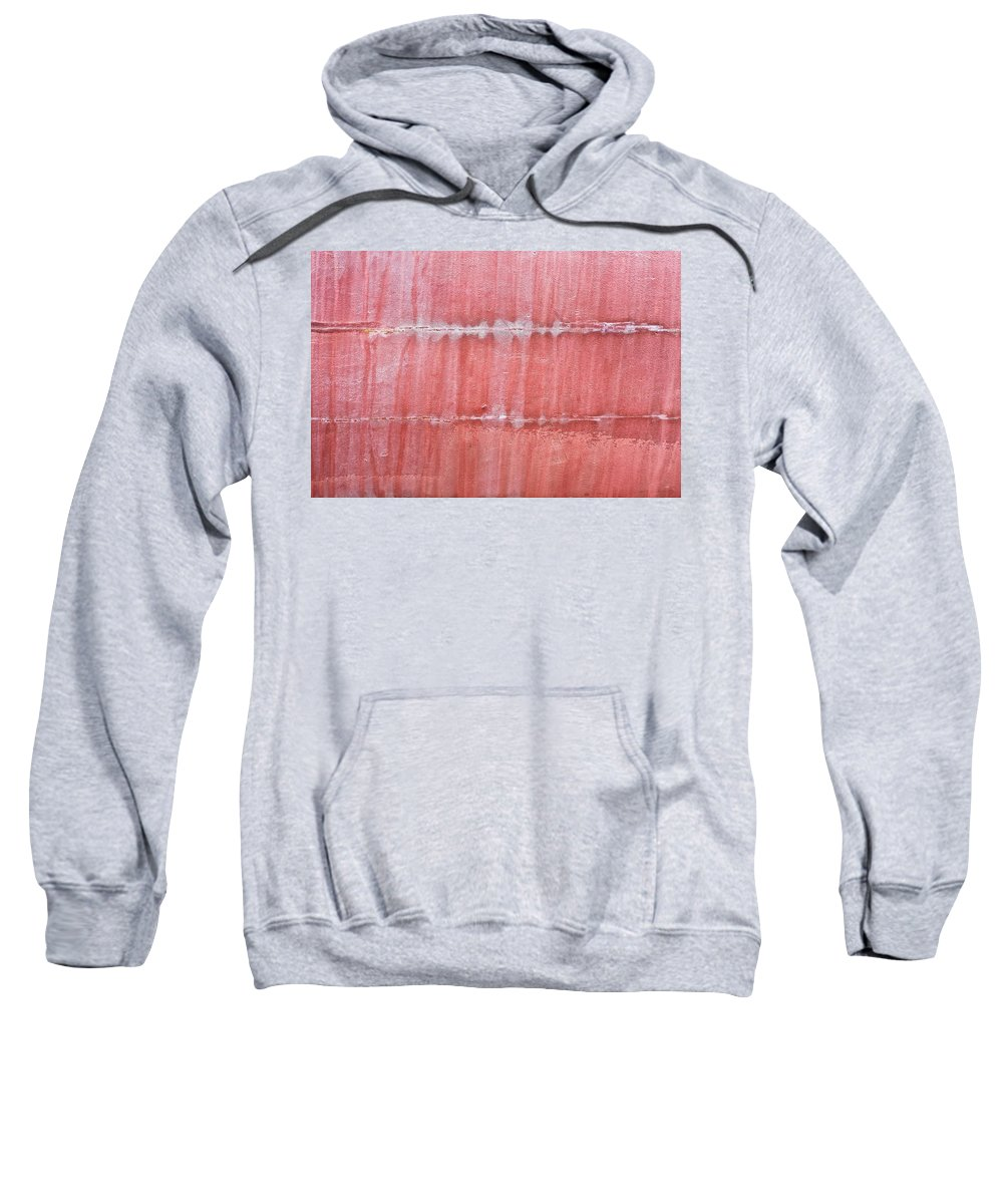 Abstract Sweatshirt featuring the photograph Red Metal by Tom Gowanlock