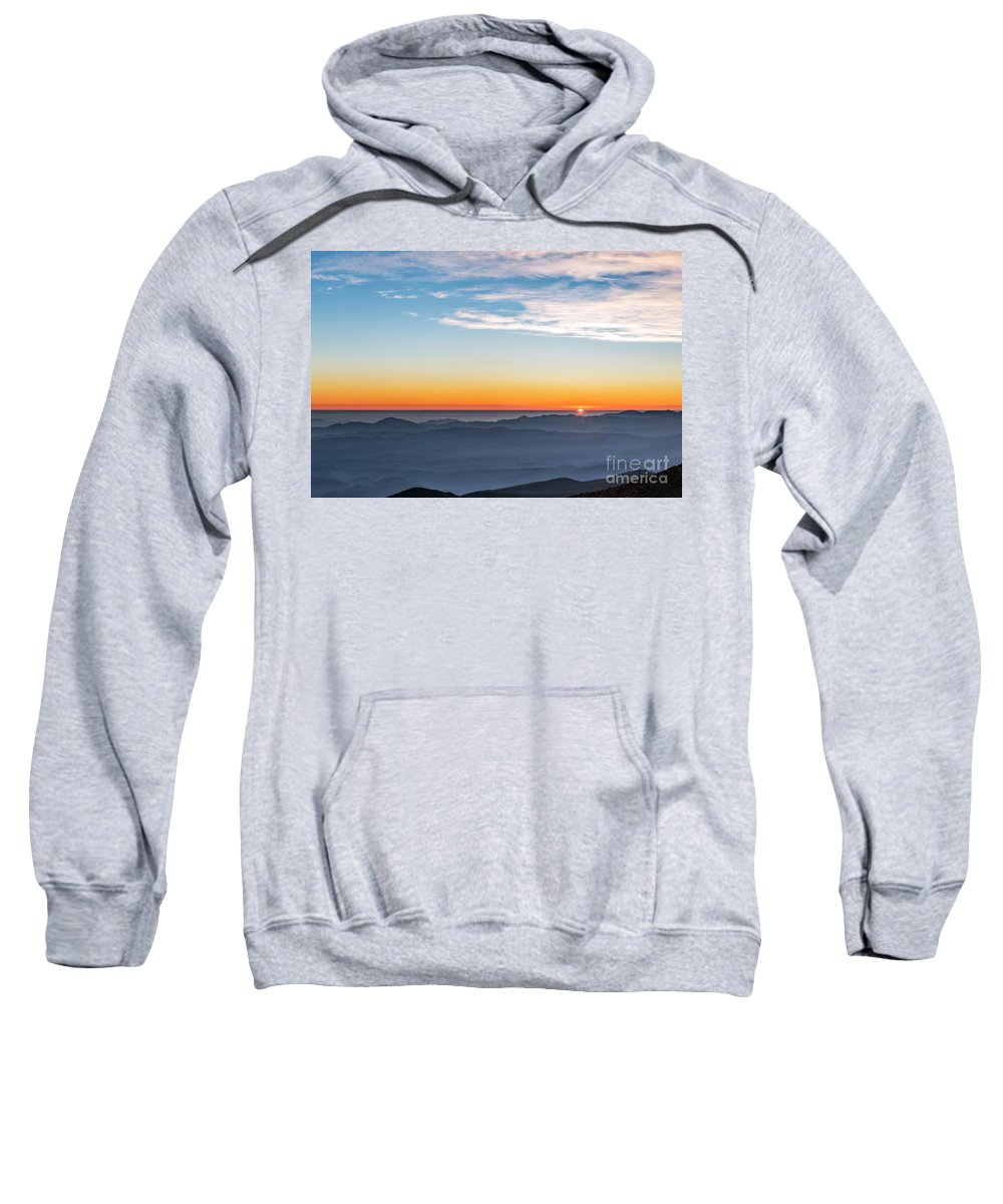 Night Sweatshirt featuring the photograph Sunset Over The La Silla Observatory by Babak Tafreshi