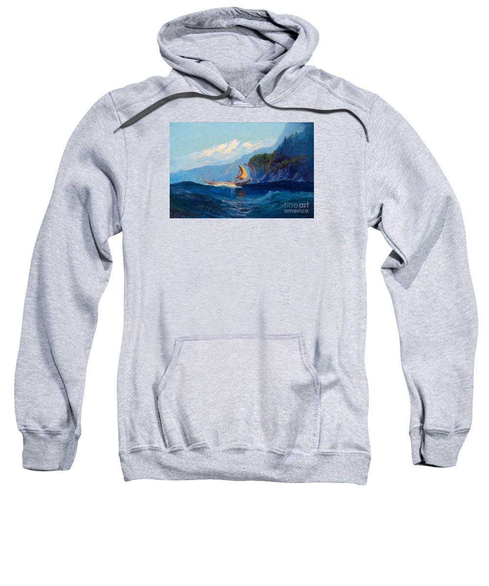 Sydney Laurence (1865-1940) Chilkat Indian Canoe (1939) Sweatshirt featuring the painting Sydney Laurence by MotionAge Designs