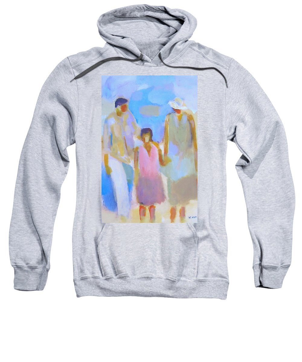 Abstract Sweatshirt featuring the painting 3 With Love by Habib Ayat