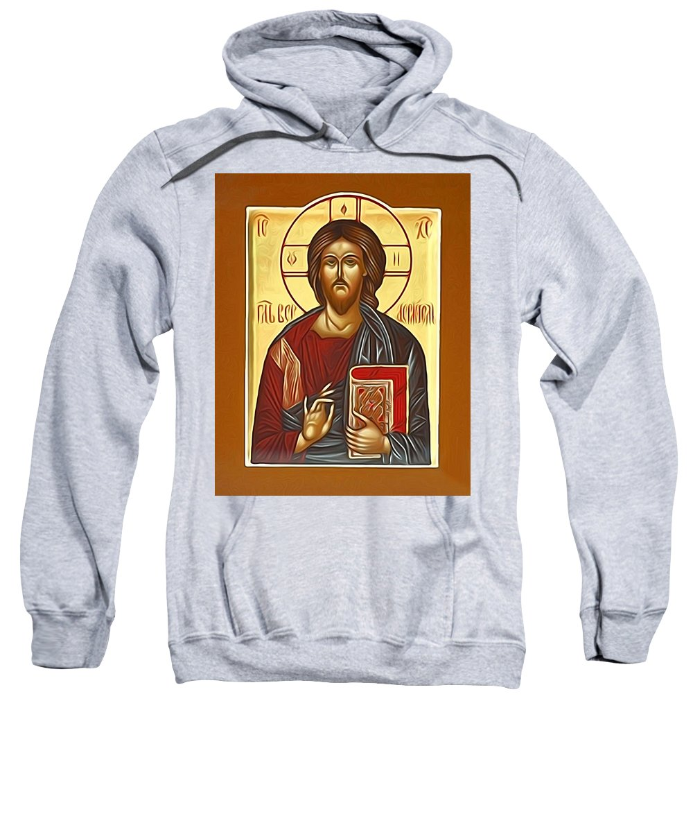 Jesus Sweatshirt featuring the digital art Jesus Christ by Carol Jackson