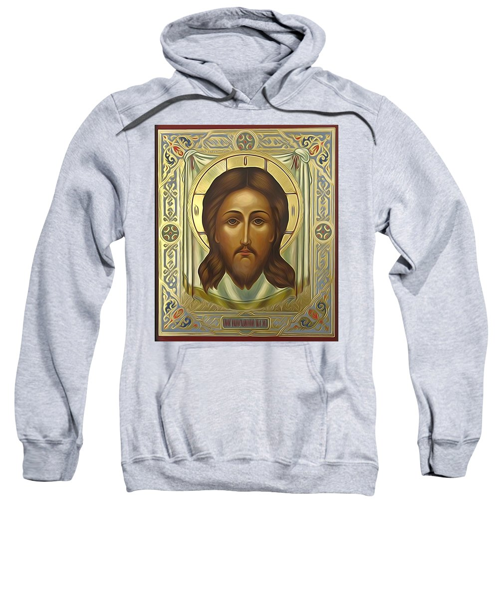 Jesus Sweatshirt featuring the digital art Jesus Christ Christian Art by Carol Jackson