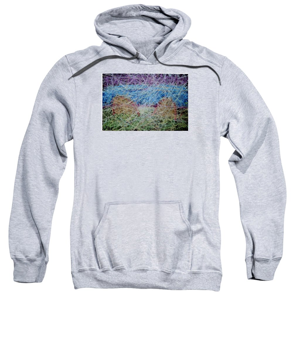 Sweatshirt featuring the painting 38 by Terry Wiklund