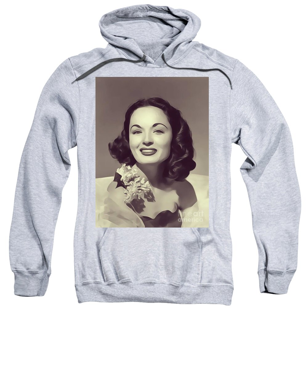 Ann Sweatshirt featuring the digital art Ann Blyth, Vintage Actress by John Springfield