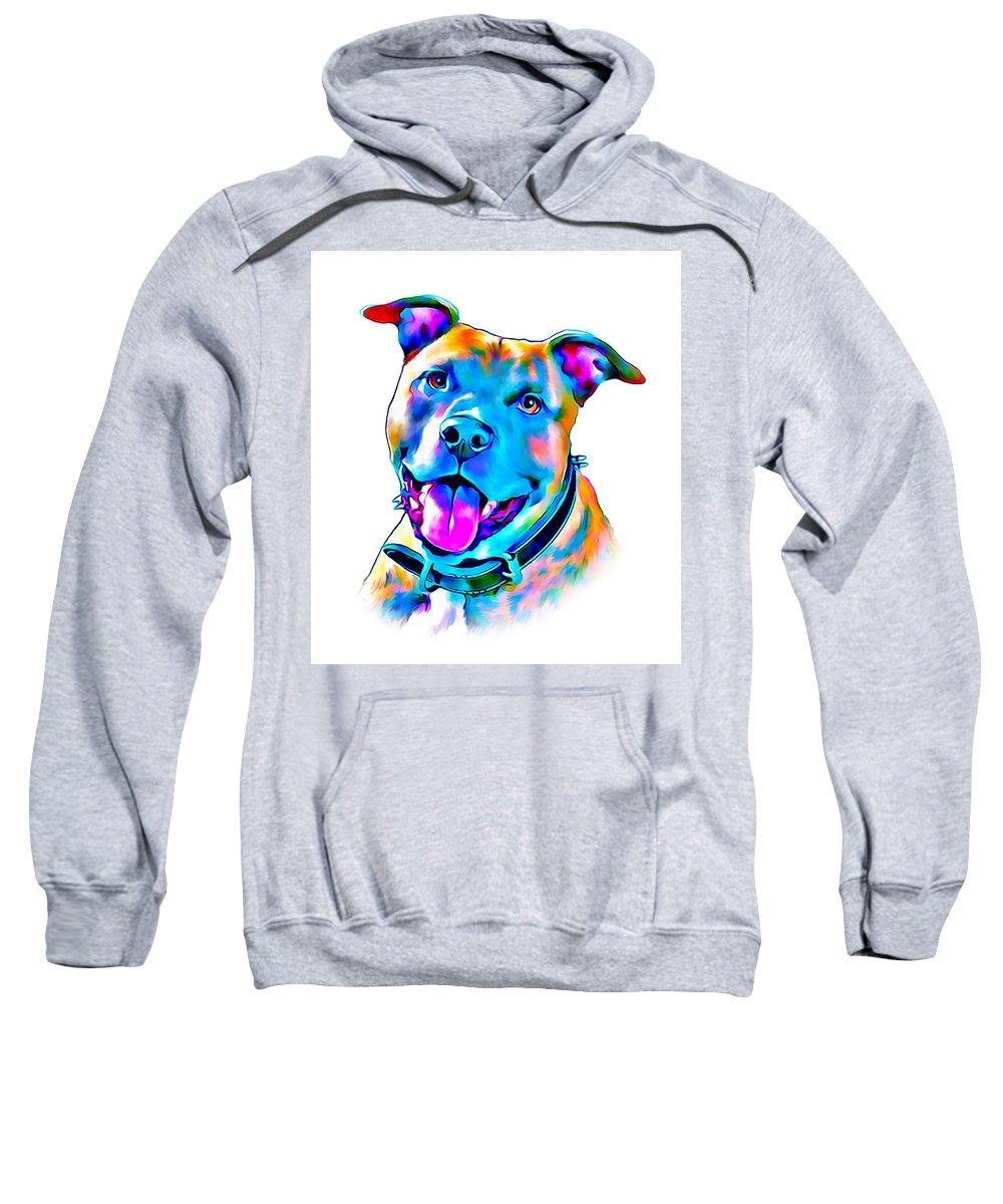 Art Dogportrait Sweatshirt featuring the digital art Art Dogportrait by Sergey Gubinets