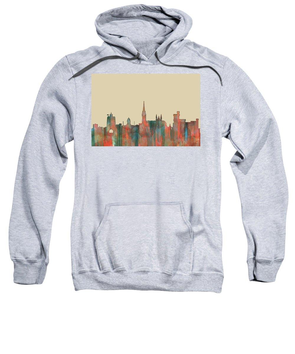 Cork Ireland Skyline Sweatshirt featuring the digital art Cork Ireland Skyline by Marlene Watson