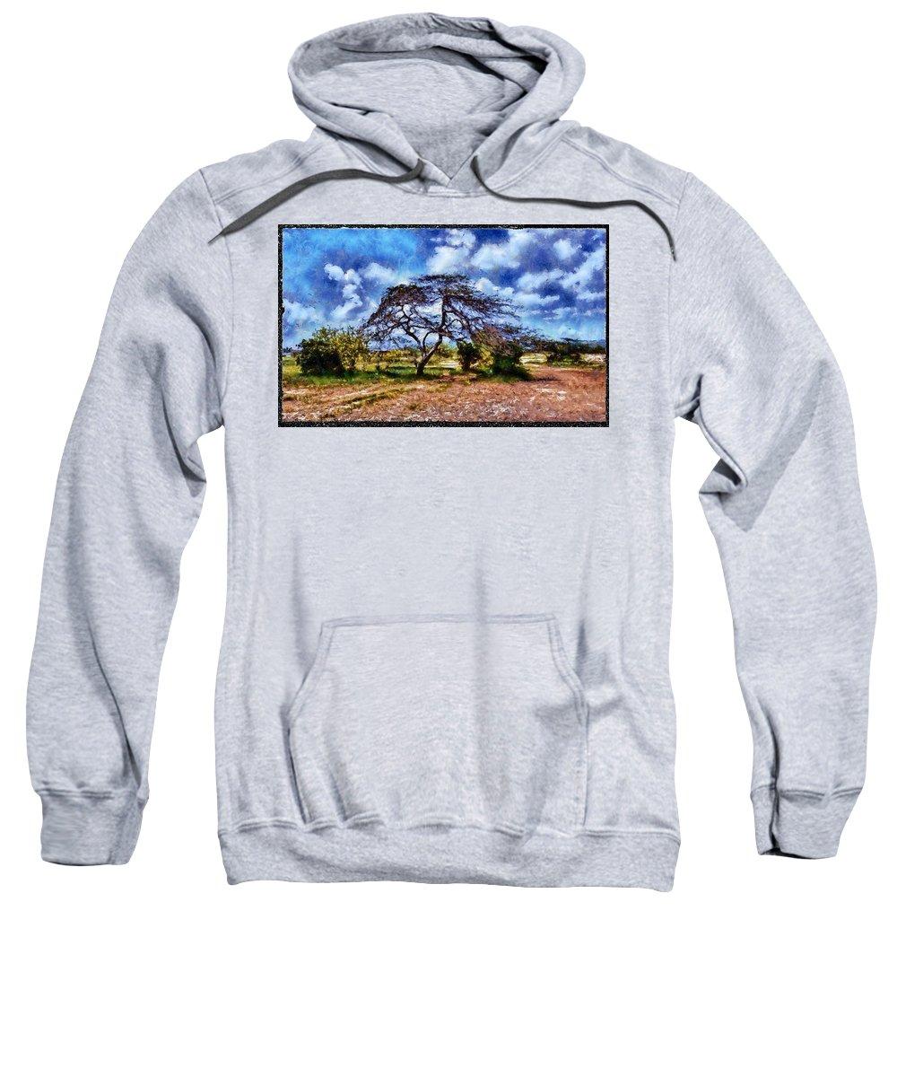 Desert Sweatshirt featuring the photograph Desertic Tree by Galeria Trompiz