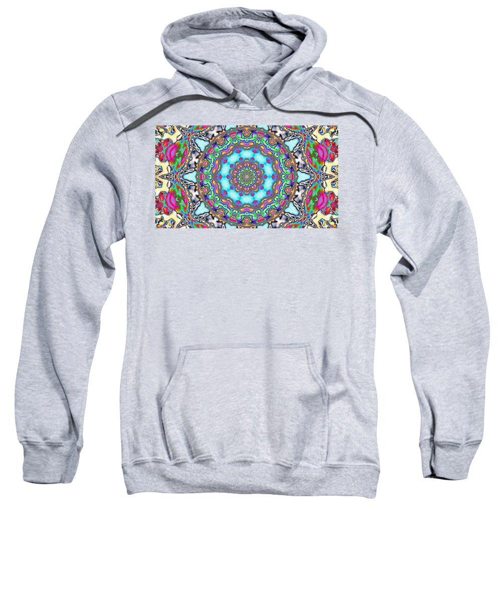 Digital Art Sweatshirt featuring the digital art Fractal by Belinda Cox