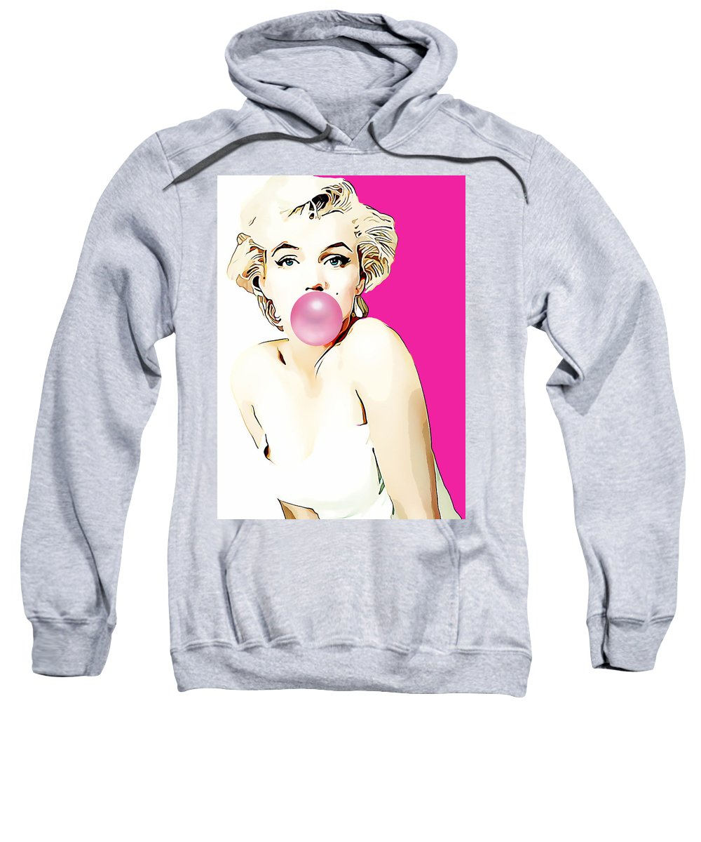Marilyn Monroe Sweatshirt featuring the mixed media Marilyn Monroe Collection by Marvin Blaine
