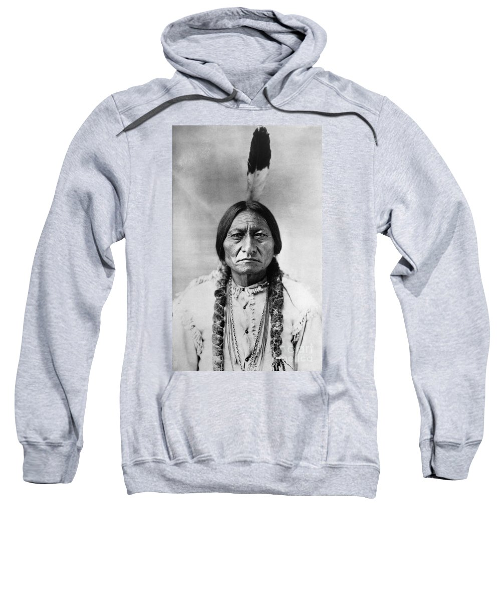 19th Century Sweatshirt featuring the photograph Sitting Bull 1834-1890. To License For Professional Use Visit Granger.com by Granger