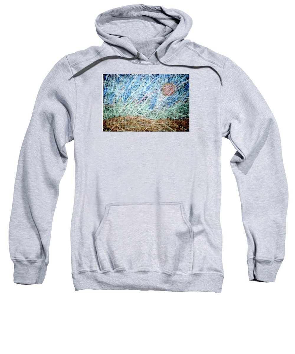 Sweatshirt featuring the painting 40 by Terry Wiklund