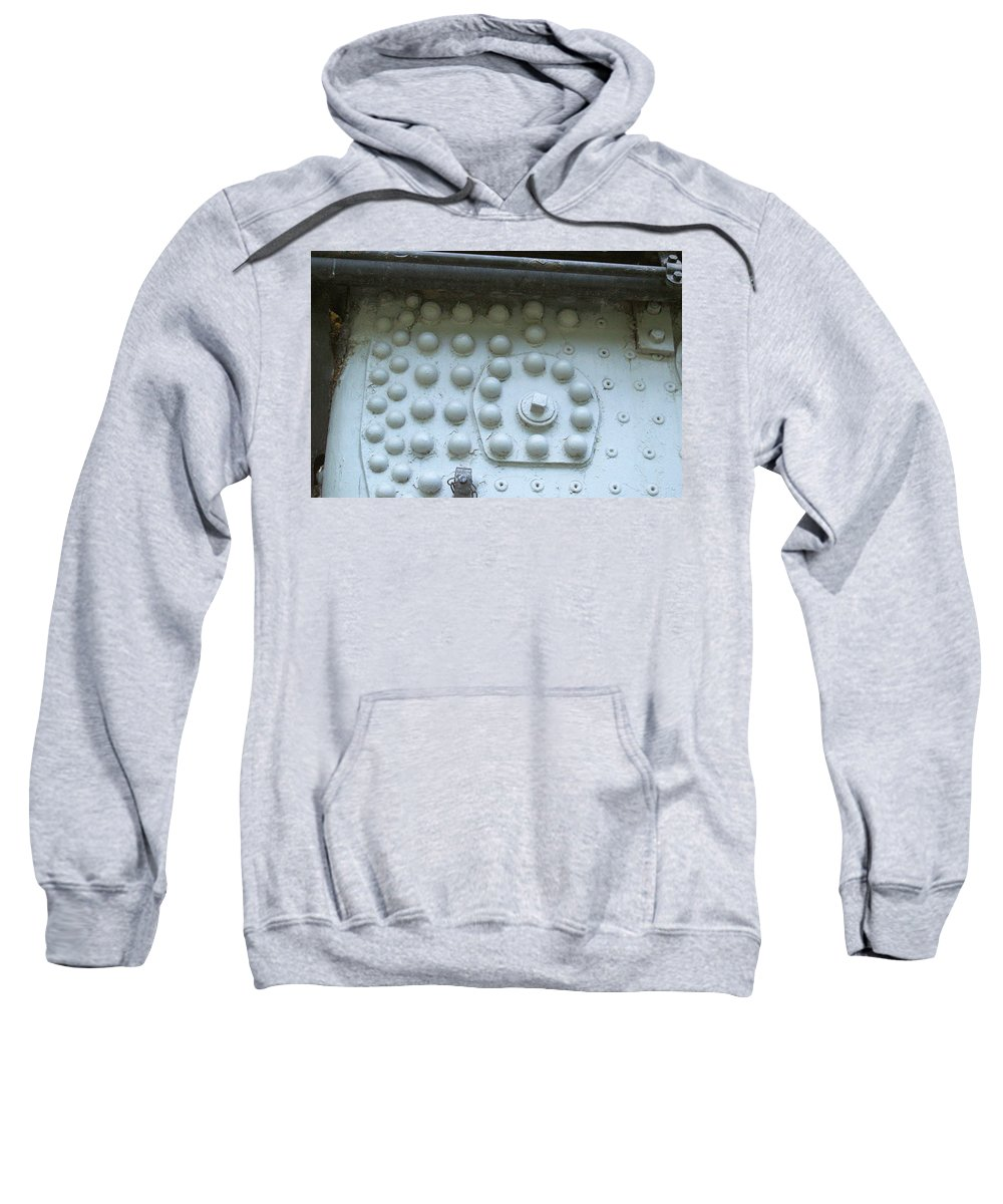 Steam Sweatshirt featuring the photograph 4004 Rivets by Wendy Fox