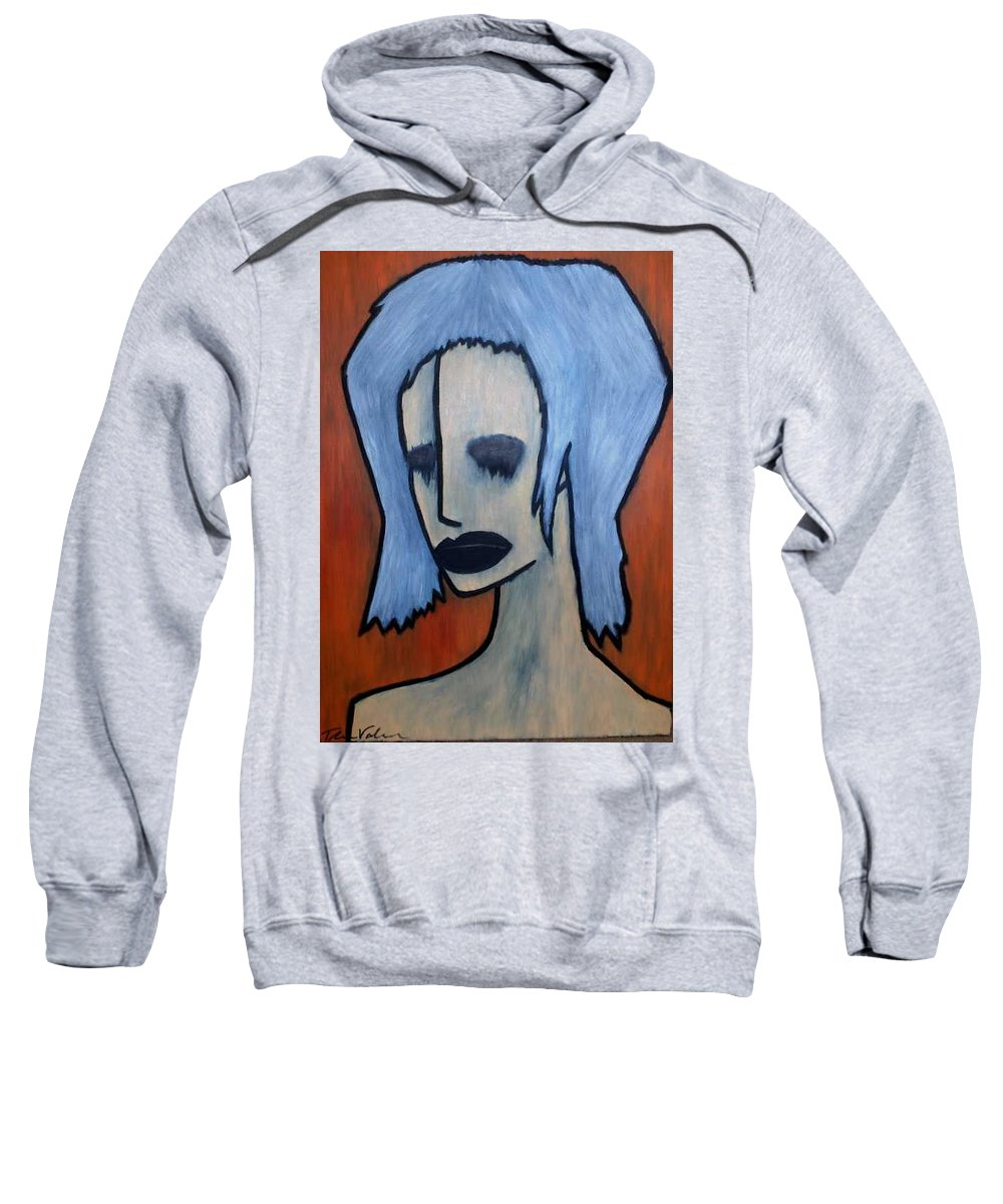 Potrait Sweatshirt featuring the painting Halloween by Thomas Valentine