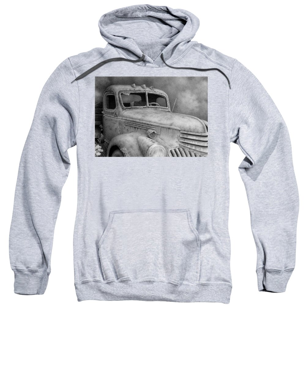 Old Chevy Truck Drawings Hooded Sweatshirts T-Shirts