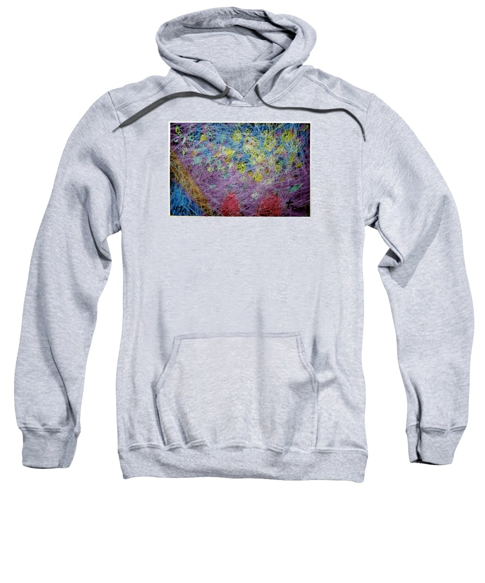 Sweatshirt featuring the painting 47 by Terry Wiklund