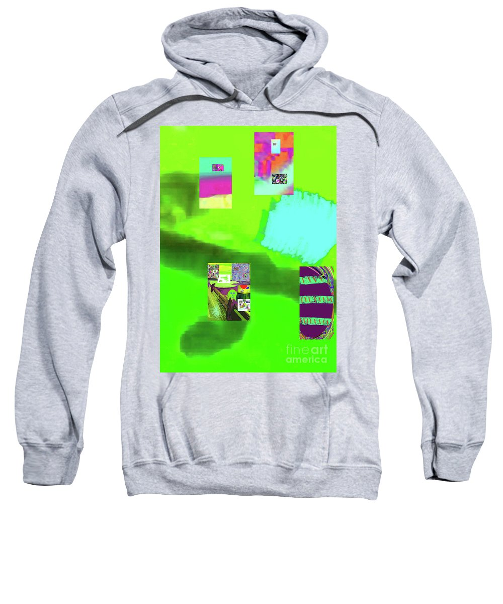 Walter Paul Bebirian Sweatshirt featuring the digital art 5-14-2015gabcdefghijklmnopqrtu by Walter Paul Bebirian