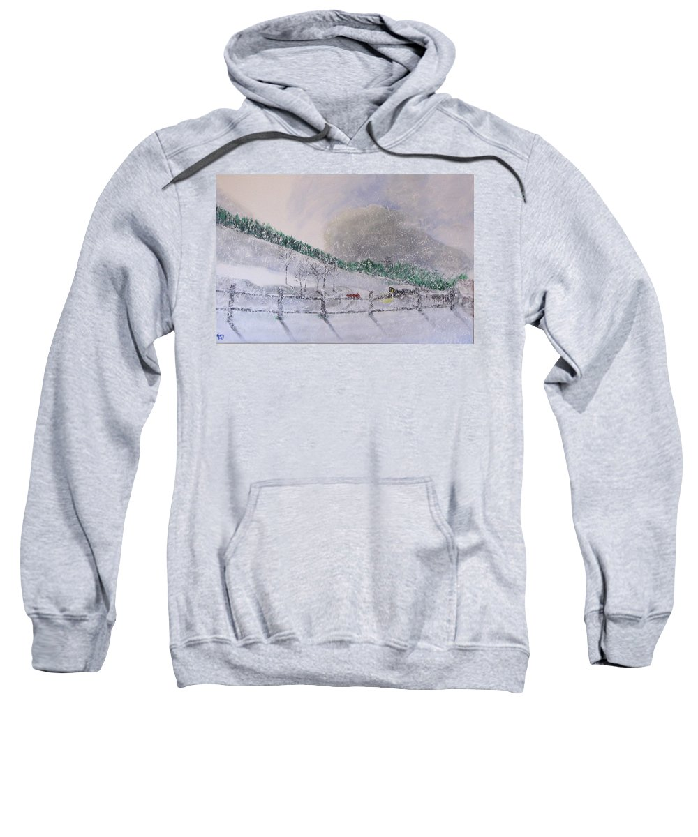 Snow Sweatshirt featuring the painting 5 Card Stud by Gary Smith