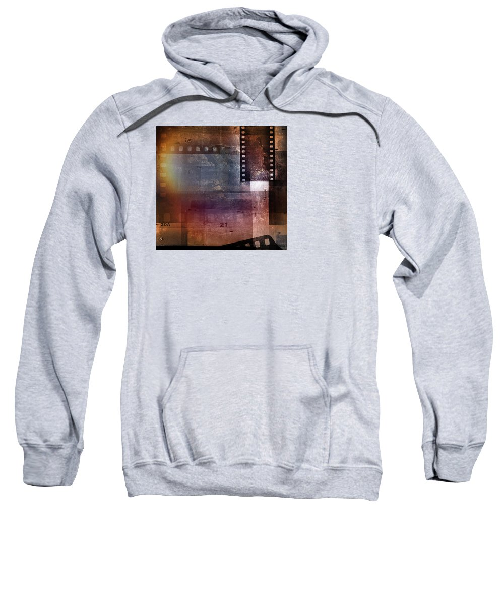 Film Frames Sweatshirt featuring the digital art Film Strips 3 by Les Cunliffe