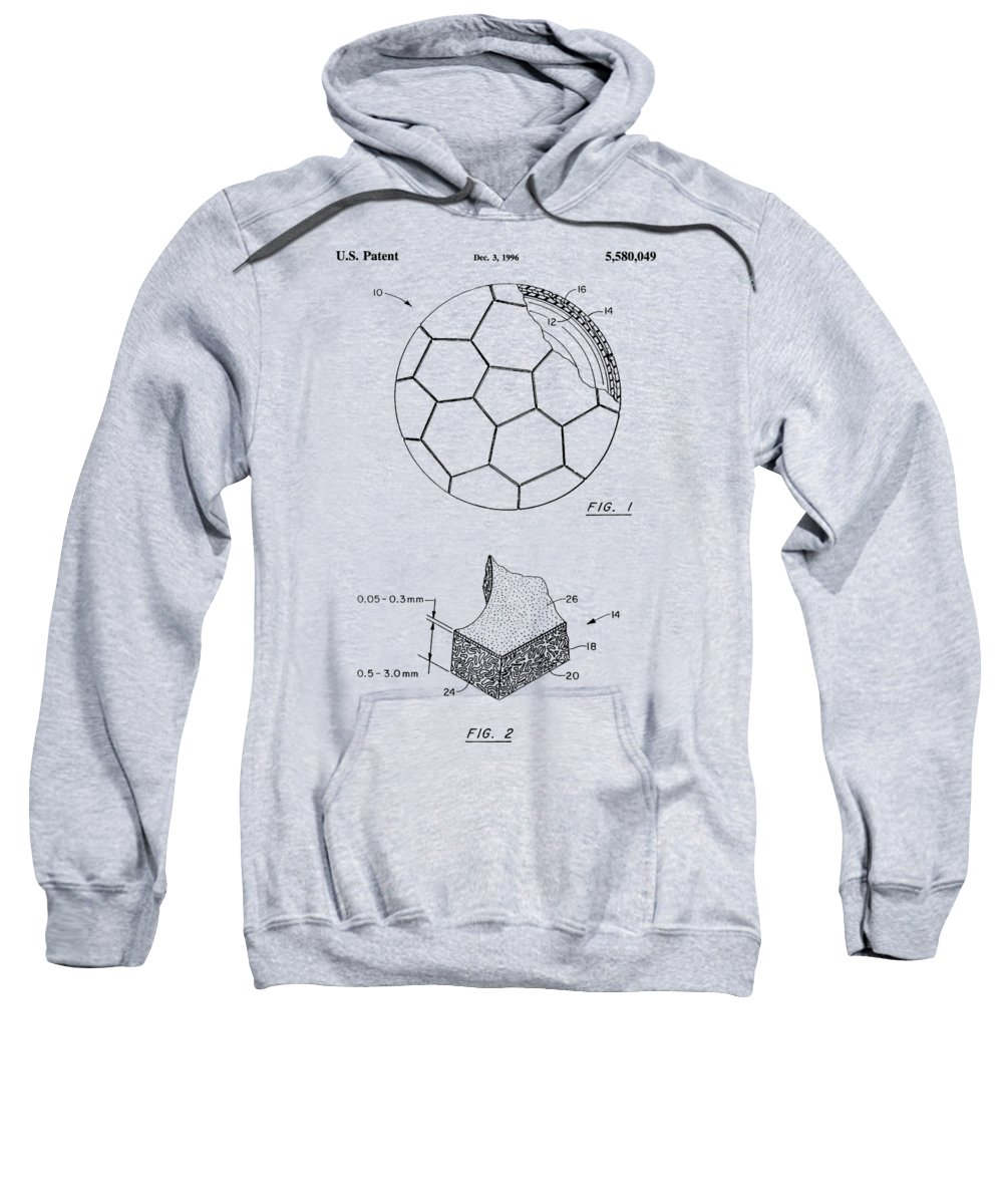 Football Sweatshirt featuring the photograph Football Patent by Chris Smith
