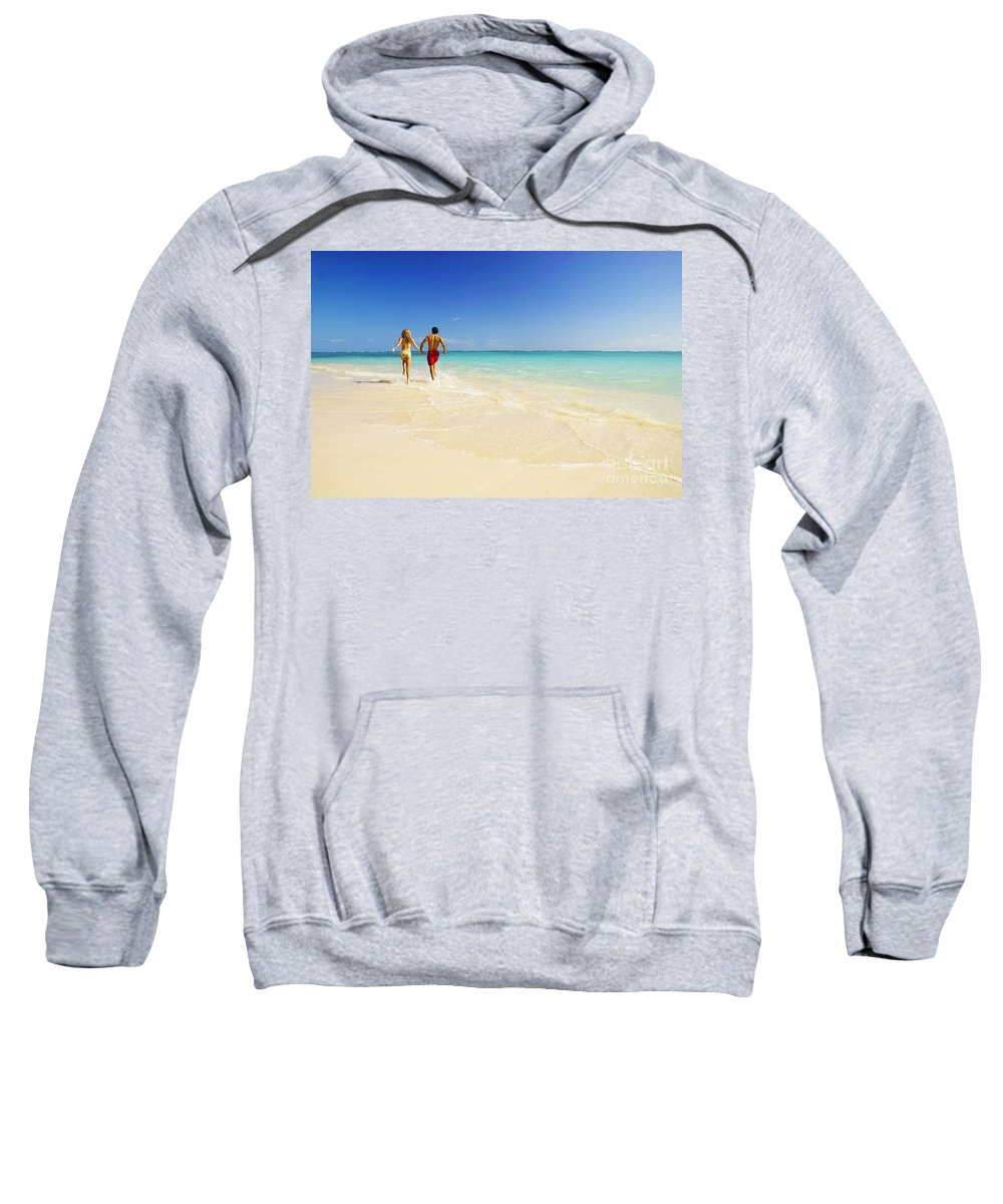 Active Sweatshirt featuring the photograph Lanikai Beach by Dana Edmunds - Printscapes