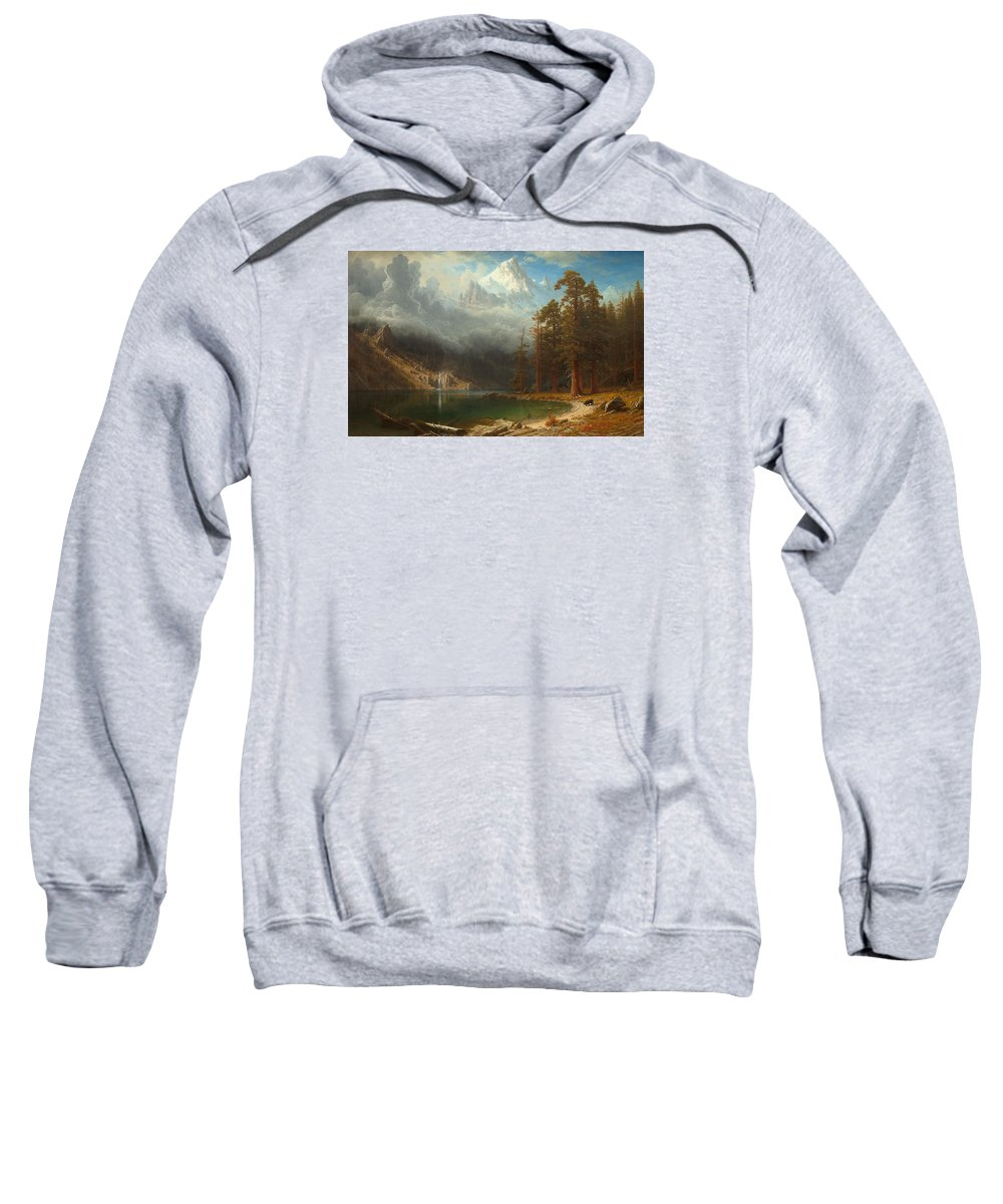 Painting Sweatshirt featuring the painting Mount Corcoran by Mountain Dreams
