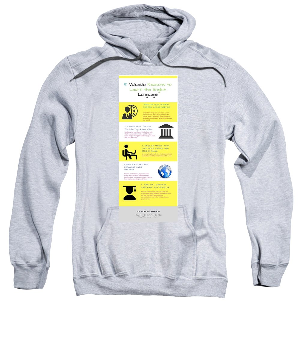 Accounting Help Online In Sydney Sweatshirt featuring the digital art 5 Valuable Reasons To Learn The English Language by Catherine Williams