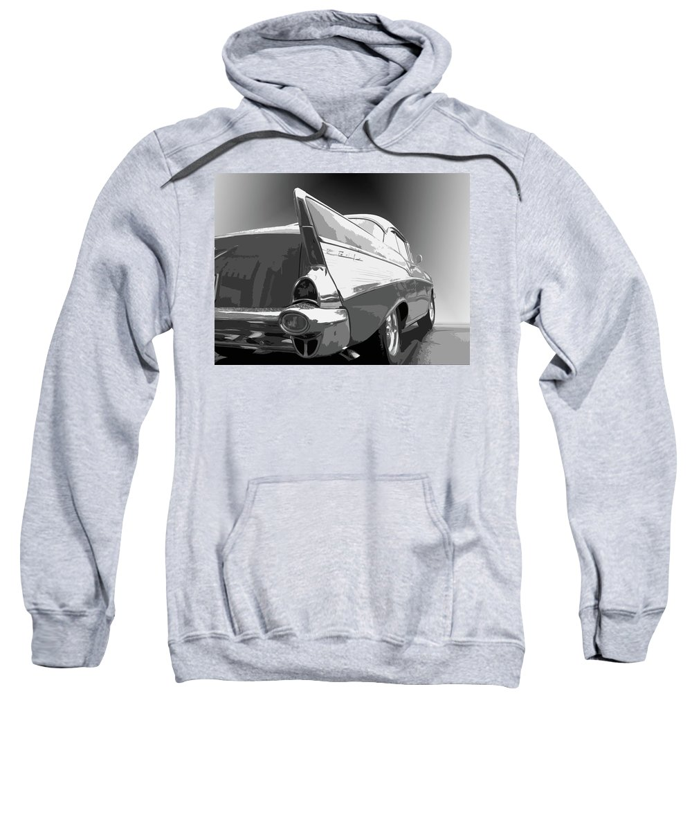 1957 Sweatshirt featuring the photograph 57 Chevy Horizontal by Dick Goodman