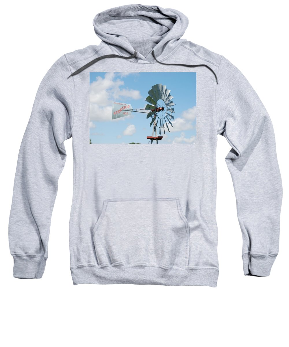 Blue Sweatshirt featuring the photograph Aermotor Windmill by Rob Hans