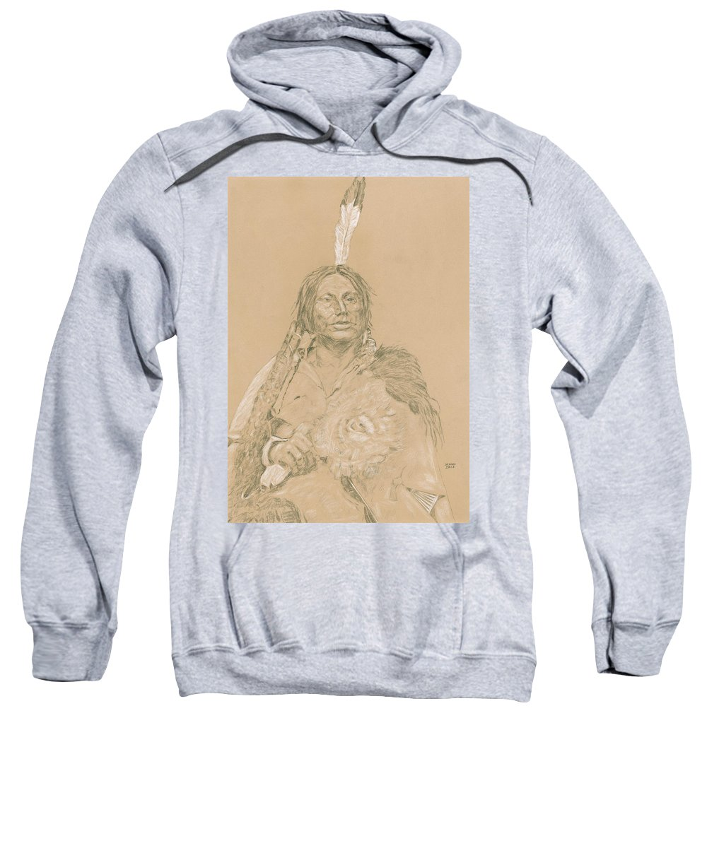 Gall Sweatshirt featuring the drawing Gall by Dennis Larson