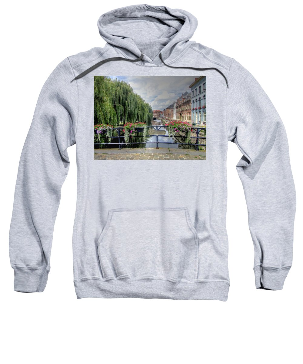 Ghent Belgium Sweatshirt featuring the photograph Ghent Belgium by Paul James Bannerman