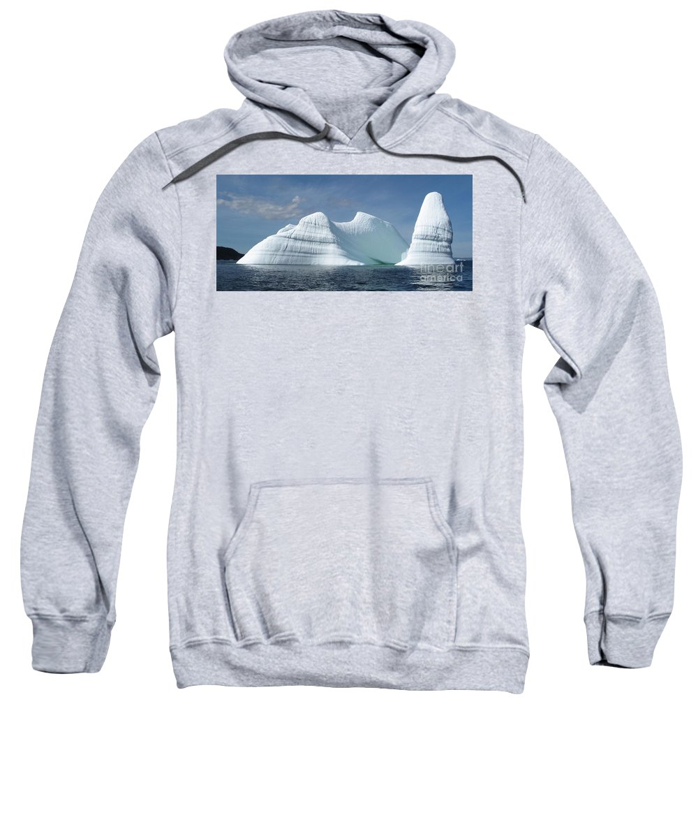 Iceberg Photograph Ice Water Ocean Sea Atlantic Summer Newfoundland Sweatshirt featuring the photograph Iceberg by Seon-Jeong Kim