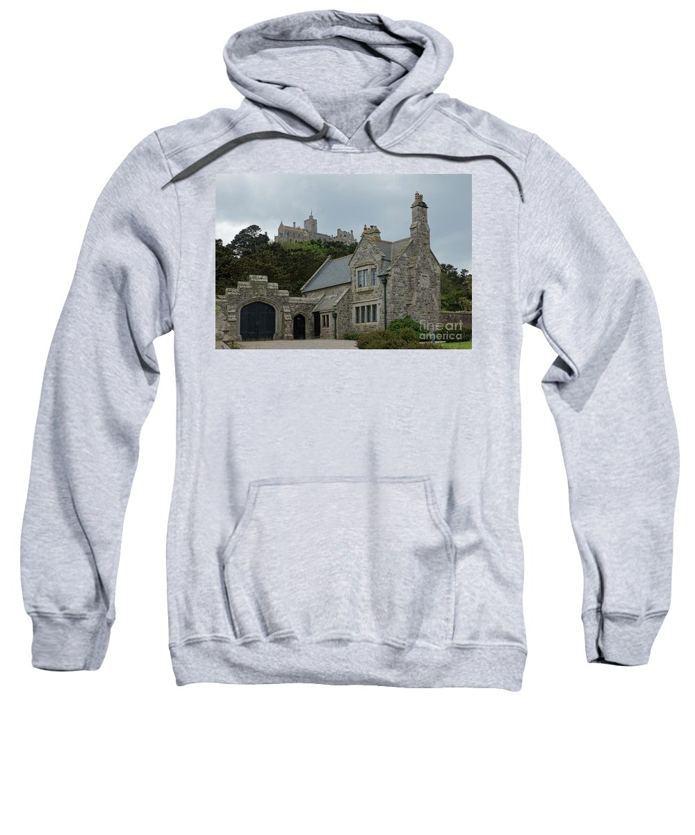 Cornwall Sweatshirt featuring the photograph St Michael's Mount Cornwall by Philip Pound