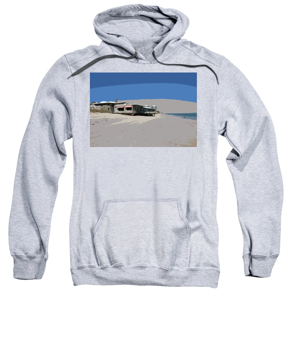 Florida Sweatshirt featuring the painting The Ocean Grill At Vero Beach In Florida by Allan Hughes