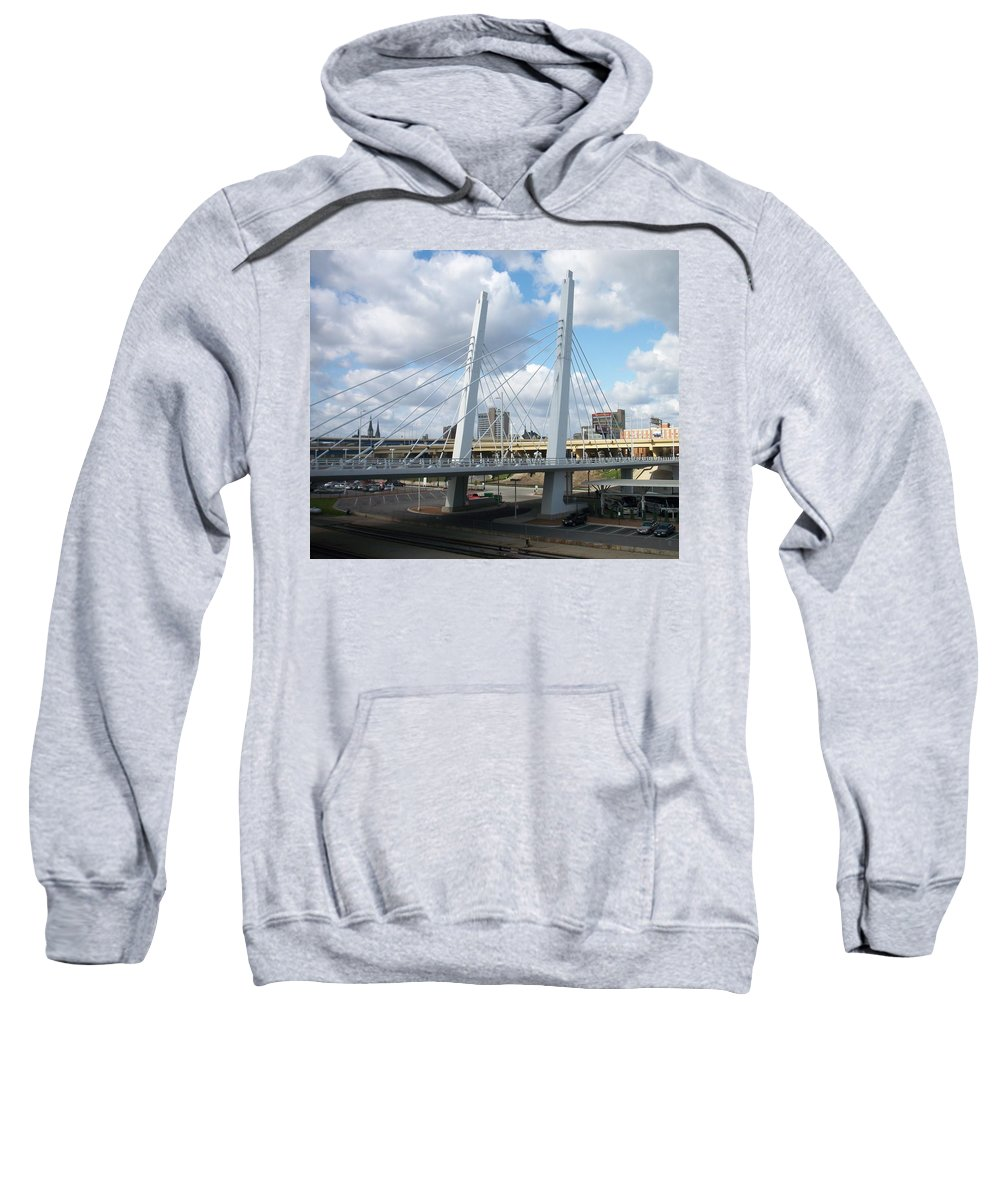 Bridge Sweatshirt featuring the photograph 6th Street Bridge by Anita Burgermeister