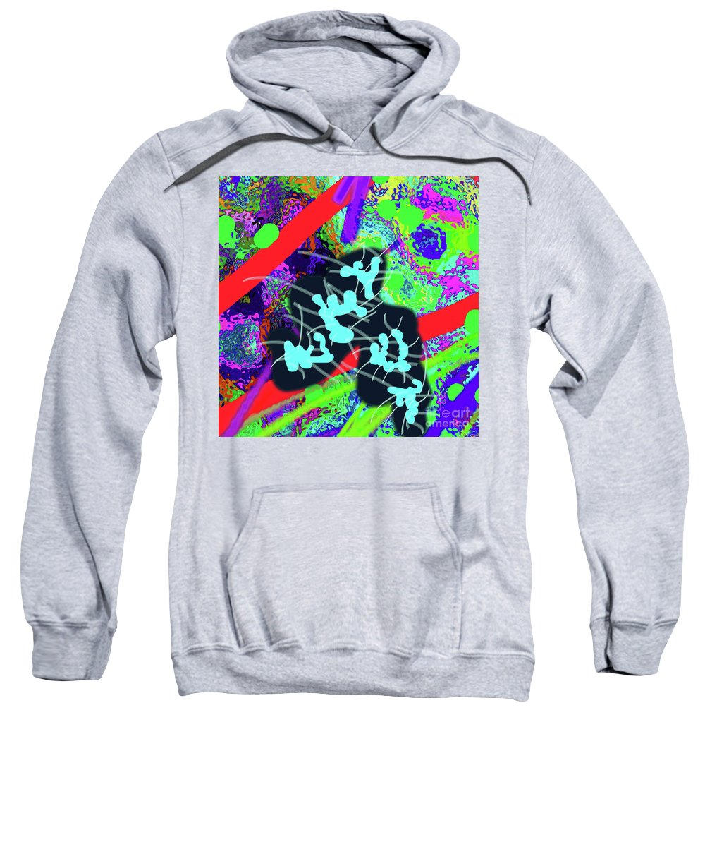Walter Paul Bebirian Sweatshirt featuring the digital art 7-30-2015dab by Walter Paul Bebirian