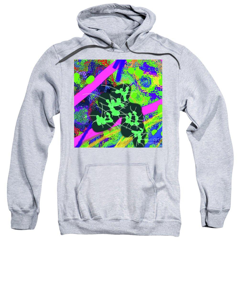 Walter Paul Bebirian Sweatshirt featuring the digital art 7-30-2015dabcdef by Walter Paul Bebirian