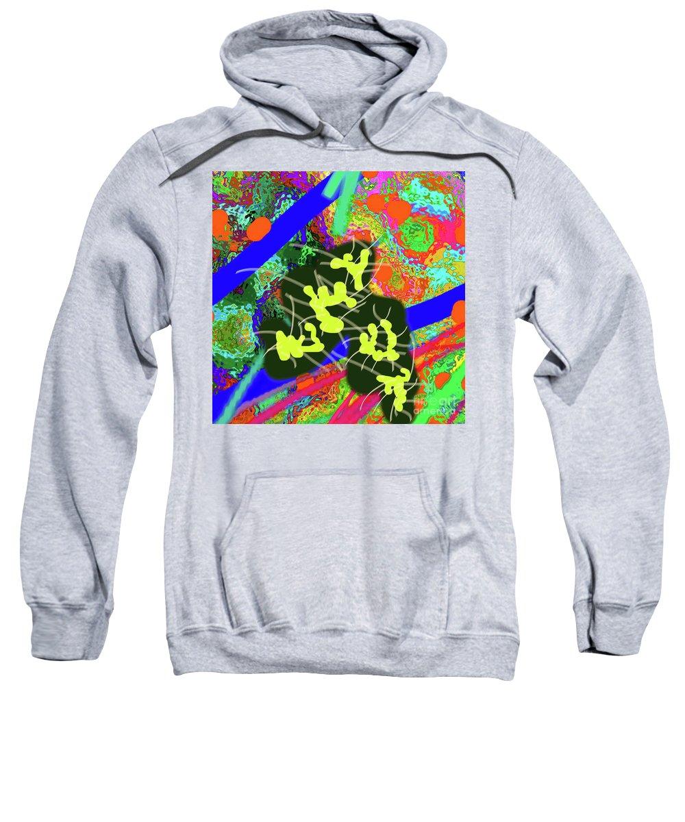 Walter Paul Bebirian Sweatshirt featuring the digital art 7-30-2015dabcdefghijklmn by Walter Paul Bebirian