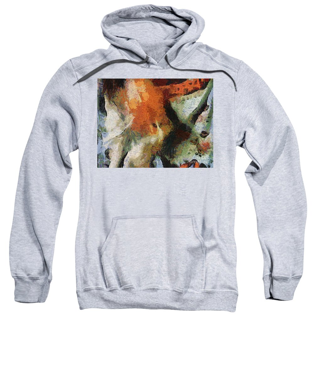 Abstract Sweatshirt featuring the digital art Abstract by Sobano S