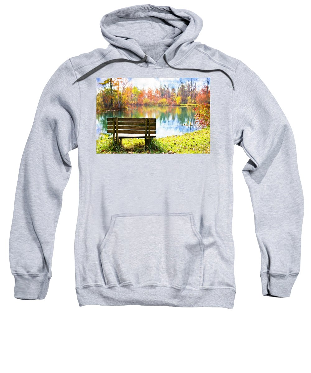Autumn Sweatshirt featuring the digital art Autumn by Jill Wellington