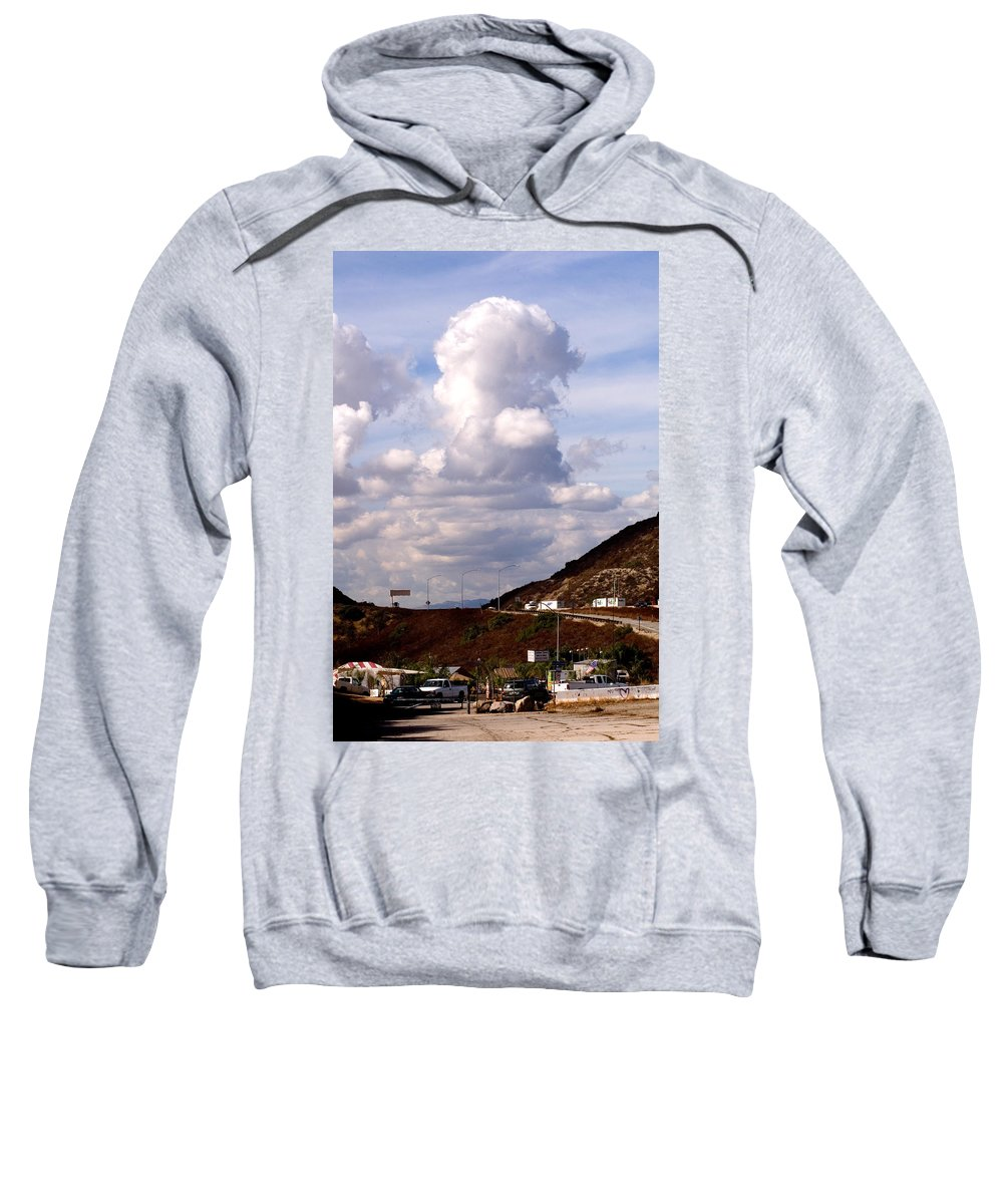 Clay Sweatshirt featuring the photograph Clouds by Clayton Bruster