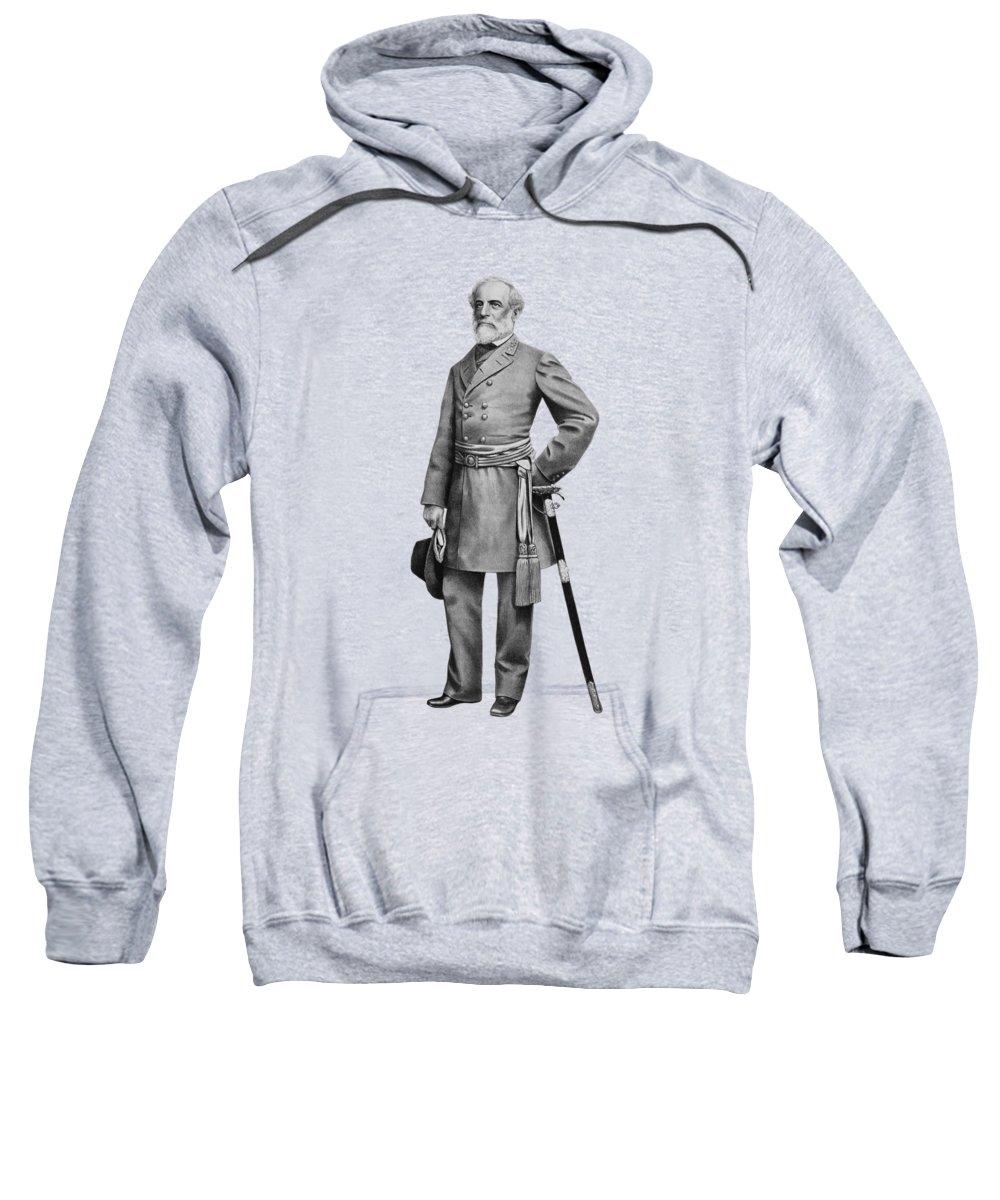 Robert E Lee Sweatshirt featuring the mixed media General Robert E Lee by War Is Hell Store