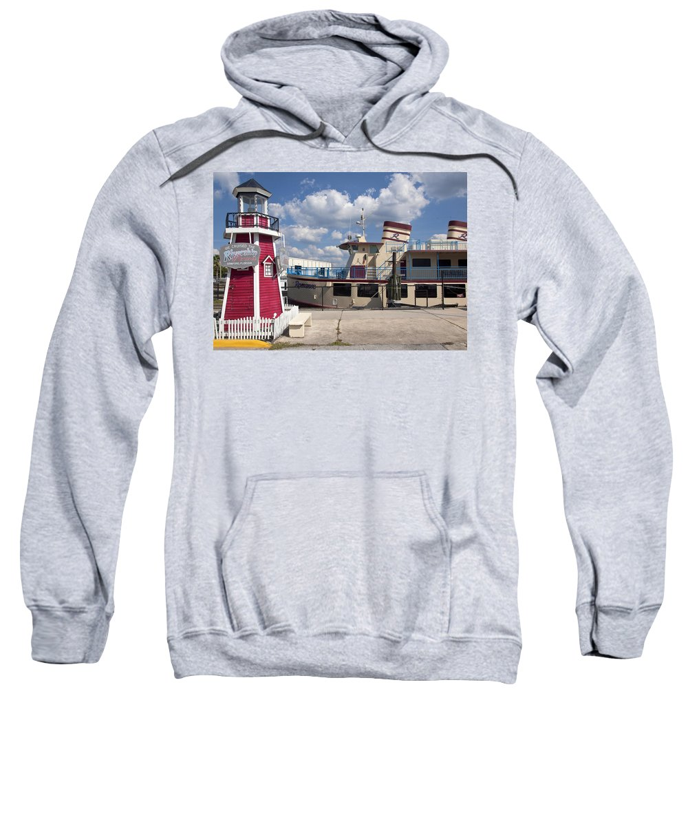 Rivership Sweatshirt featuring the photograph Lake Monroe At The Port Of Sanford Florida by Allan Hughes