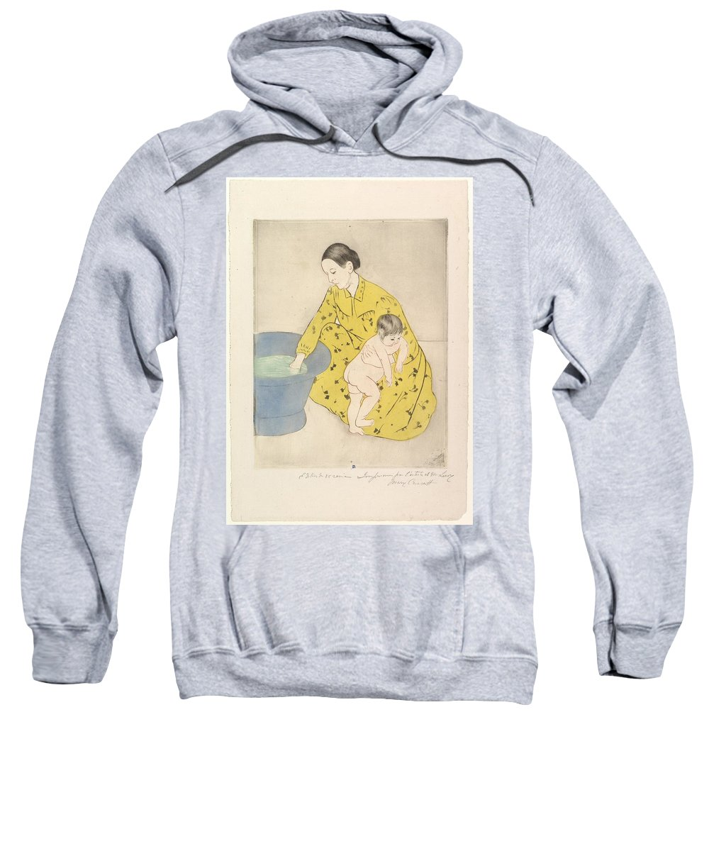 Mary Cassatt Sweatshirt featuring the painting The Bath by MotionAge Designs