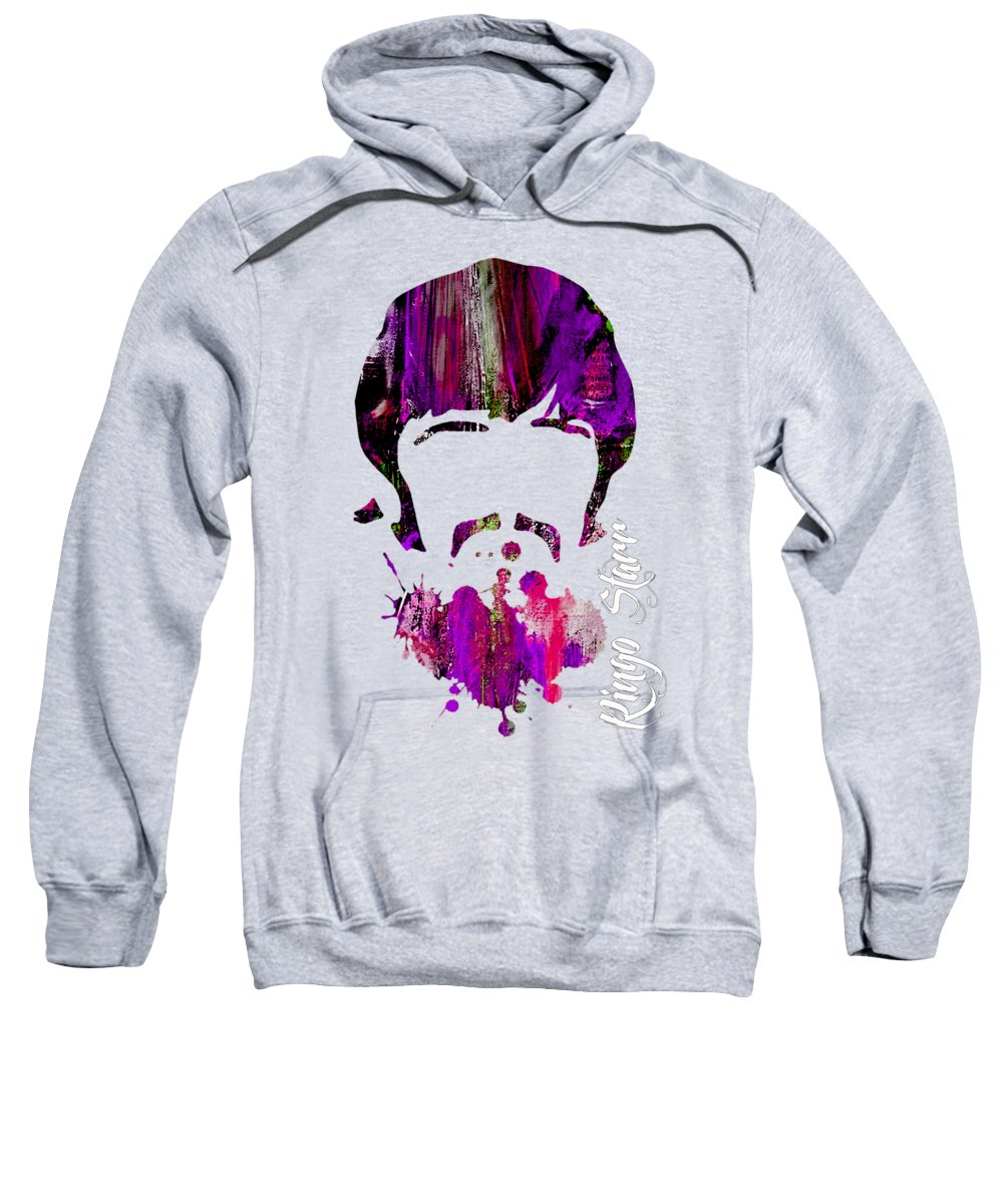 Ringo Starr Sweatshirt featuring the mixed media Ringo Starr Collection by Marvin Blaine