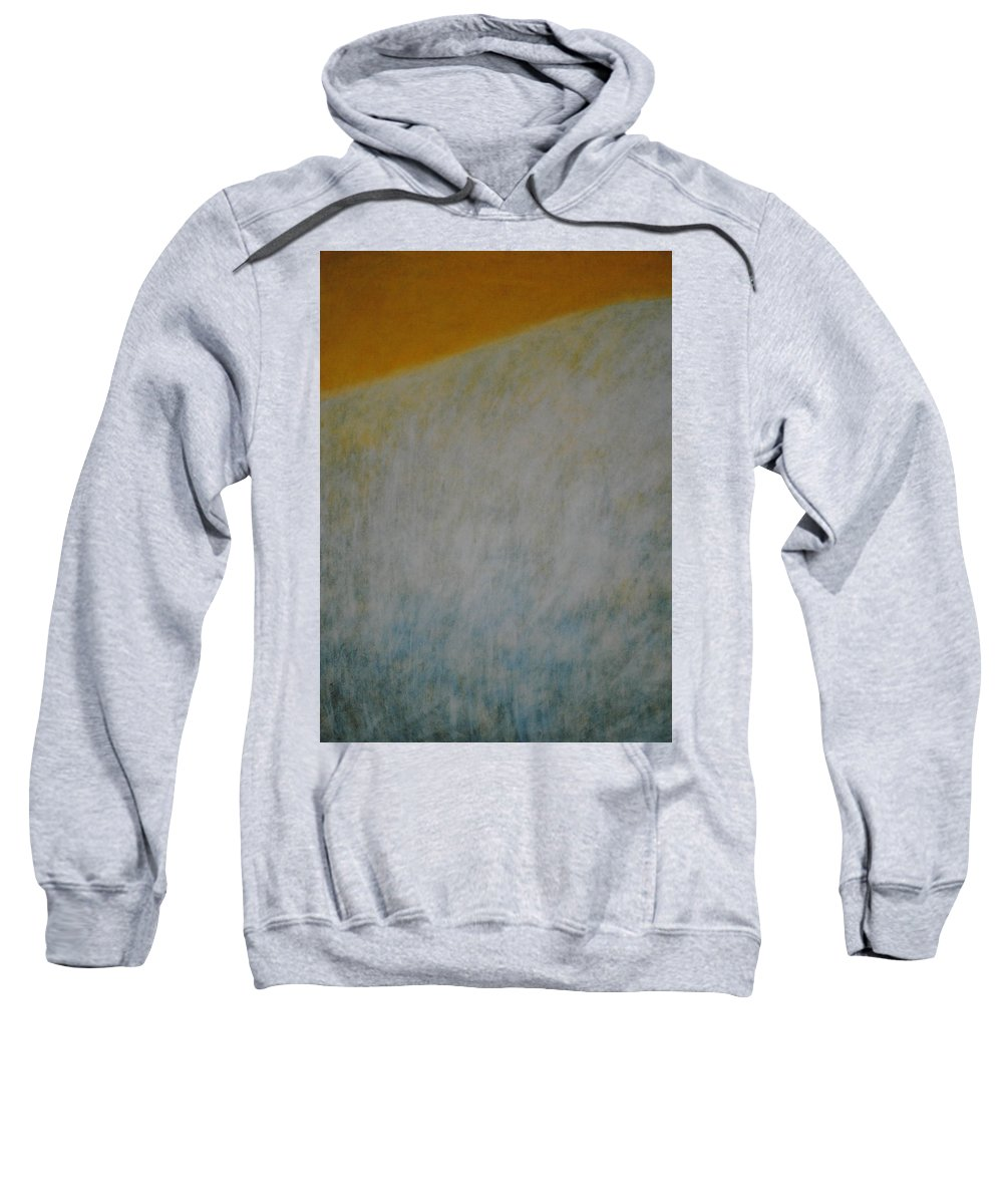 Contemporary Sweatshirt featuring the painting Calm Mind by Kyung Hee Hogg